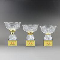 夏季活动比赛奖品 水晶玻璃奖杯 广州水晶厂 精兴工艺