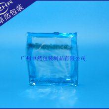 带塑料滑头pvc化妆袋有底有侧PVC饰品袋15C丝印防水电压自封袋