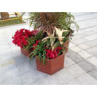 舒纳和提供 珠海户外花箱 防腐木花盆 园林景观小品 移动花箱