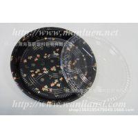 金枫叶寿司盒大圆盘 一次性寿司盒子 环保塑料寿司盒 披萨大盘子