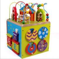 外贸玩具 2012款Parents品牌busy zoo 大号多功能大绕珠箱 马戏团