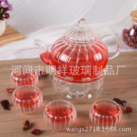 特价正品耐热保温玻璃茶壶 功夫茶具精品茶具 菊花壶南瓜壶