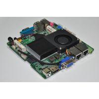 无风扇迷你超薄Nano ITX工控主板 1037U LVDS 主板 单双网口 包邮