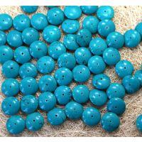 天然新疆绿松石 优化工艺各款尖面算盘珠 精品饰品配件佛珠手链