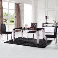 盛兴家具 厂家直销不锈钢餐桌 餐厅配套餐椅 宴会桌椅