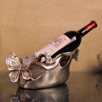 家居日用品欧式宫廷风装饰品树脂工艺酒店用品餐具蝴蝶红酒架