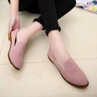 新款休闲真皮单鞋 平底 学生女单鞋 简约真皮女鞋 防滑妈妈鞋工鞋