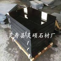 灵硕石材厂中国黑2号花岗岩墓碑异形墓碑加工定做黑色出口墓碑