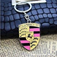 纯金属镂空车标钥匙扣 丹麦钥匙扣 汽车标志钥匙扣 保时捷钥匙扣
