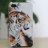新品彩绘中国风老虎iphone 4/4S苹果5手机外壳保护套个正品牌批发