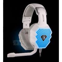 赛德斯A70呼吸灯耳机 头戴式电脑游戏耳麦带麦克风usb 7.1带声卡