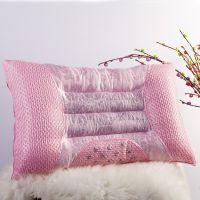 伊丝路家纺 提花决明子半磁疗助眠护颈枕芯 保健枕头