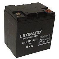LEOPARD蓄电池 HTS12-24铅酸电池12V24AH免维护蓄电池