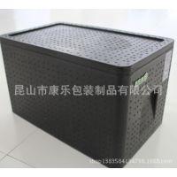 45升黑色EPP保温箱冷藏箱海鲜箱蔬菜配送箱冷链箱冷配箱保鲜箱