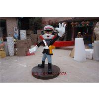 中国经典动画黑猫警长卡通雕塑直销