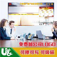 深圳白板厂家优力优磁性办公书写板出口批发可擦写便携磁性文化墙