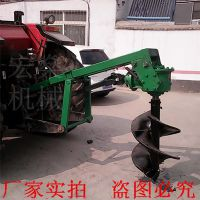 四轮车挖树坑打眼机 杨树苗种植机 挖坑机视频