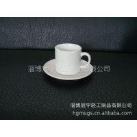 供应热转印陶瓷咖啡杯碟,3.5oz陶瓷咖啡杯碟,热转印涂层杯碟