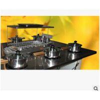 日式美观大方不锈钢餐厅火锅桌 烤涮一体锅家具