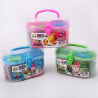 厂家直销品质保证价格实惠儿童无毒环保玩具晶晶彩泥橡皮泥DIY面粉泥