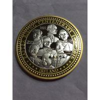银泰 纪念章 让历史世代相传 锌合金双色电镀纪念币