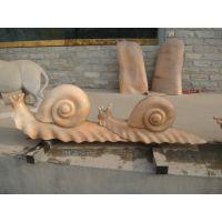 厂家直销 石雕蜗牛 大理石蜗牛摆件 园林公园装饰