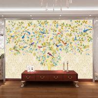 无缝大型壁画厂家 3d自粘墙纸 沙发床头电视背景墙 家装 摇钱树