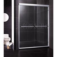 干湿分区浴室玻璃屏风铝合金双活动吊趟门