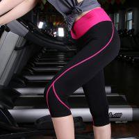 优哈服饰新款韩版高弹紧身瑜伽七分裤运动健身裤塑形女款高档锦氨面料现货批发可来样加工贴牌