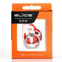 elice圣诞小礼物苹果6S手机支架防摔防滑指环支架可定制图案Logo
