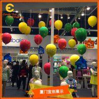 橱窗 美陈空间装饰玻璃钢定制彩色硬壳气球道具