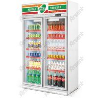 SG10L2FA双门冰箱 饮料冰柜 药品冷藏柜双门 超市冰箱饮料展示柜