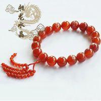 天然水晶 红玛瑙念珠 手链  时尚保平安汽 车挂 件饰品 十八罗汉