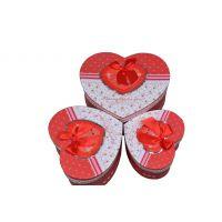 批发高档精美礼物盒  三件套纸盒  可爱心形浪漫包装礼品盒