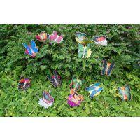 太阳能塑料工艺品 太阳能光纤蝴蝶批发 光纤蝴蝶供应