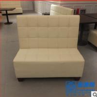 中式皮艺单面卡座沙发 小肥羊火锅店指定沙发