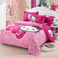 厂家直销床上四件套 经典KT猫卡通四件套大嘴猴纯棉全棉被套床单