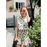 韩国代购正品夏装新款女装品牌Cherrykoko-C56PAOP132-中款连衣裙