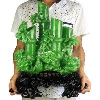 竹子工艺品 树脂办公摆件田园风格创意礼品 招财家装饰品FY1012