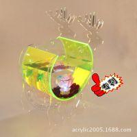 微型迷你水簇箱鱼缸 迷你亚克力鱼缸 生态创意小鱼缸