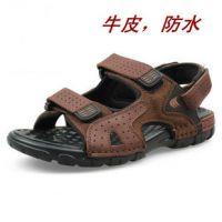 外贸原单新款沙滩凉鞋男夏季户外真皮大码男凉鞋休闲鞋速卖通货源