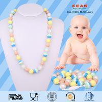 食品级婴幼儿安抚项链 初生婴儿磨牙项链 硅胶珠宝婴儿牙胶项链