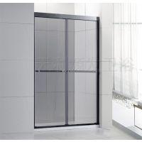 品牌淋浴房304不锈钢双趟门 加厚3.0轨道静音
