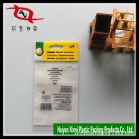 厂家供应定做带卡头OPP胶袋 自封口袋 OPP电割自粘包装袋