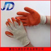 厂价批发劳保手套棉线内里乳胶涂层耐磨耐用工业防护手套浸胶挂胶