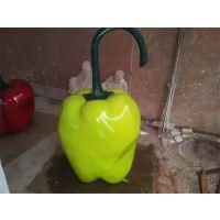 【厂家定制】青椒玻璃钢雕塑,甜椒雕塑,仿真果蔬雕塑