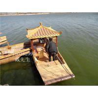 水上餐厅大连酒店水上木船景观装饰餐饮船公园客船