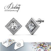 戴思妮 采用施华洛世奇元素 菱形钻石水晶耳钉 饰品 厂家直销