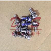 东鸿盛304不锈钢三组合螺钉 十字槽小盘头组合螺丝 国标大盘螺钉