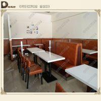 茶餐厅餐桌,现代中式自助餐厅桌定制,大理石餐桌欧迪轩厂家定制
